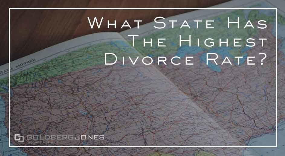 where in US had highest divorce rate