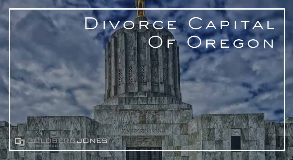 which town has the most divorces in oregon