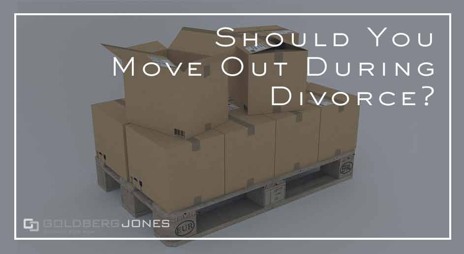 moving out if your divorce is pending