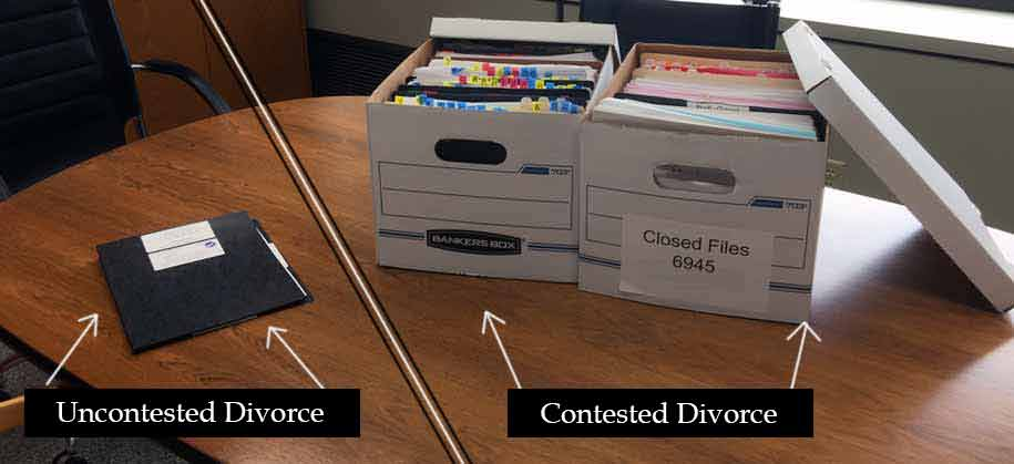 visual representation of cost of divorce