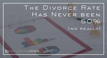 has the divorce rate ever been 50%? No